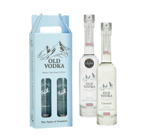 Vodka Gift Set Box Two 200ml Bottles